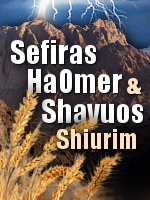 Shiurim for Sefira and Shavuous