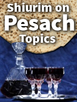 Pesach Shiurim includes new Thoughts on the Hagaddah Vol 6